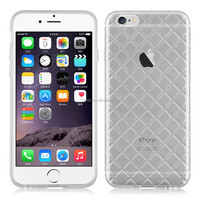 Top Sale Diamond Check Transparent TPU Gel Silicone Soft Skins Phone Case For Apple Iphone 6