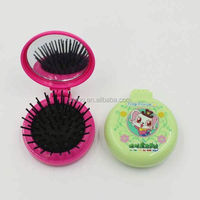 Wholesale Round Folding Hair Brush With Mirror