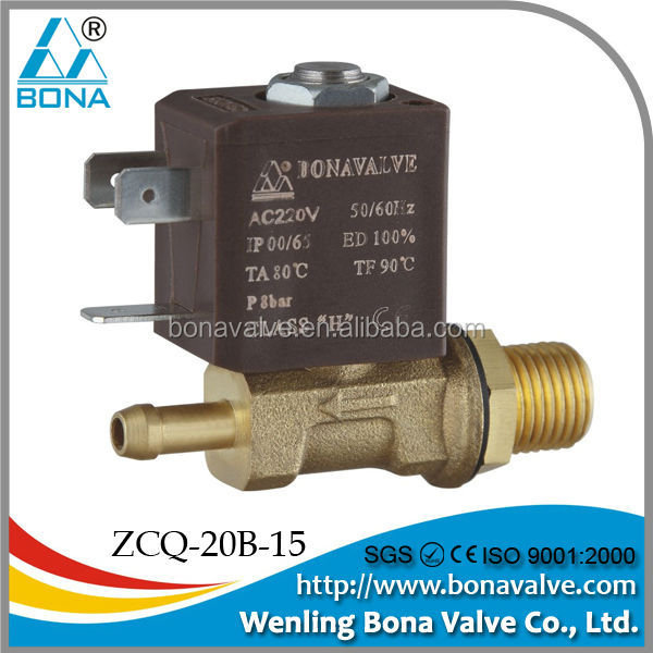 "BONA TIG/ARC/MIG Welding Machine Parts ZCQ-20B-15 1/4""*6.5mm Brass gas Solenoid Valve"