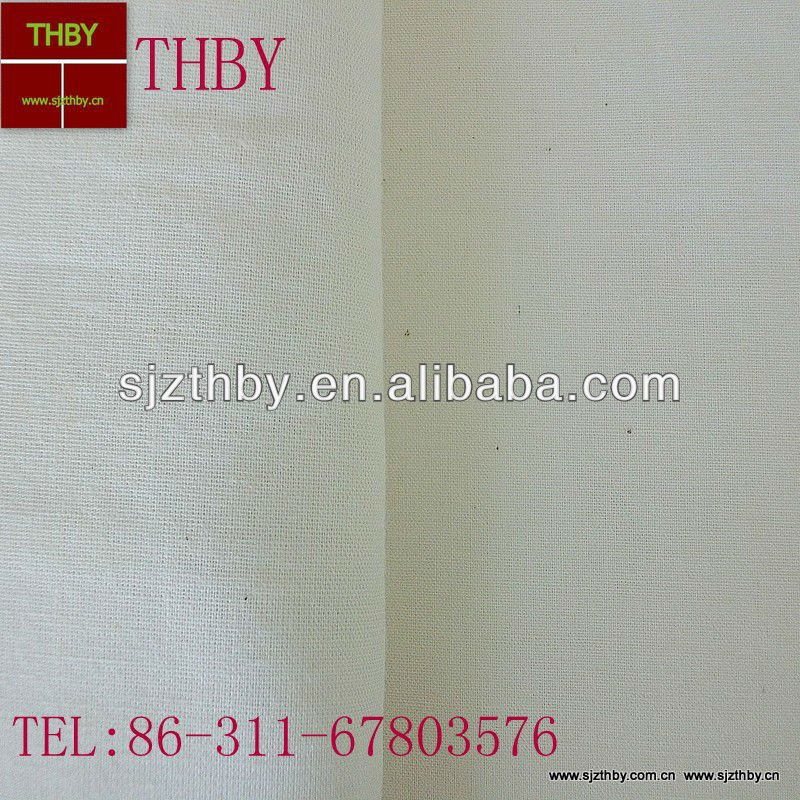 T/C 45*45 110*76 plain raw white pocket fabric