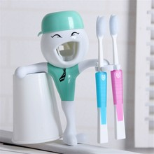 ABS Automatic Toothpaste,cartoon design automatic toothpaste dispenser,Convenient Touch Brush