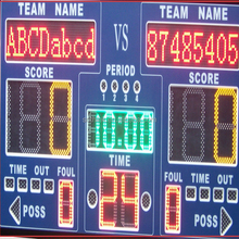 Cheap digital LED football scoreboard used
