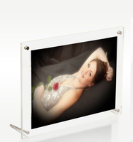 clear square glass acrylic picture frame