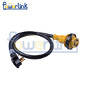 S60136 ETL RV power cord RV extension cord with molded connector