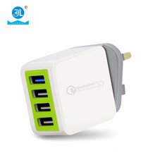 new products wirless charger mobile phone 4 usb port mobile phone accessories charger with Aluminum