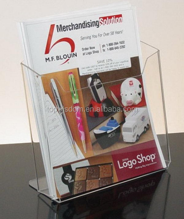 a5 a4 rotating document acrylic brochure holder