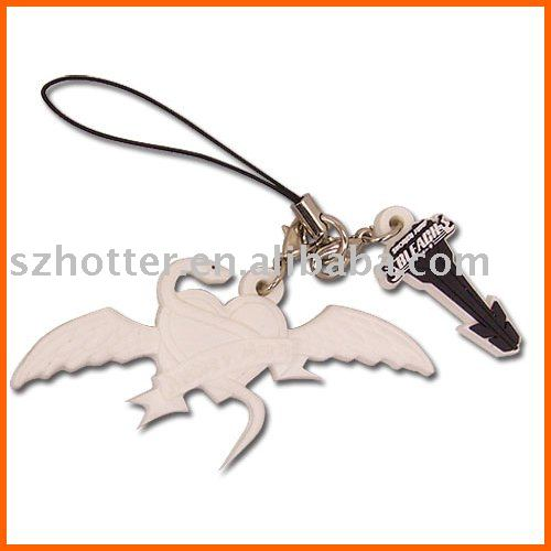 plastic handicraft soft pvc key chain