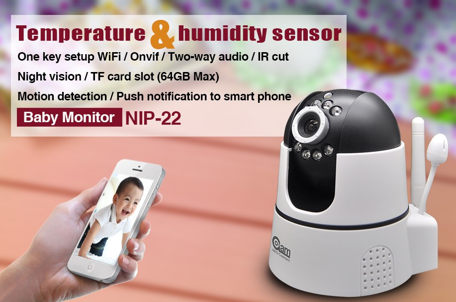 indoor hd 720P smart camera with humidity and temperature sensor, mini bluetooth camera, google download free play store