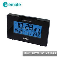 Square backlight clock with alarm and desktop calendar