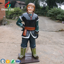 Large theme park exhibition fiberglass resin statue