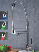 automatic 3-colors change waterfall led faucet temperature sensor faucet