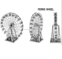 NEW 3D Metal Puzzle Model Educational Toys for Children&Adults DIY Jigsaw Puzzle FERRIS WHEEL Model Beautiful Gift Free Shipping
