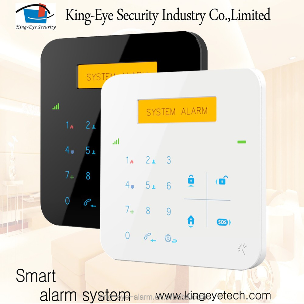Quad band GSM frequency 30 wireless+4 wired zones security protection shenzhen with CE approved