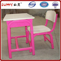 Colorful modern kids wooden desk and chair