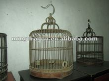 Chinese antique bamboo hanging birdcage