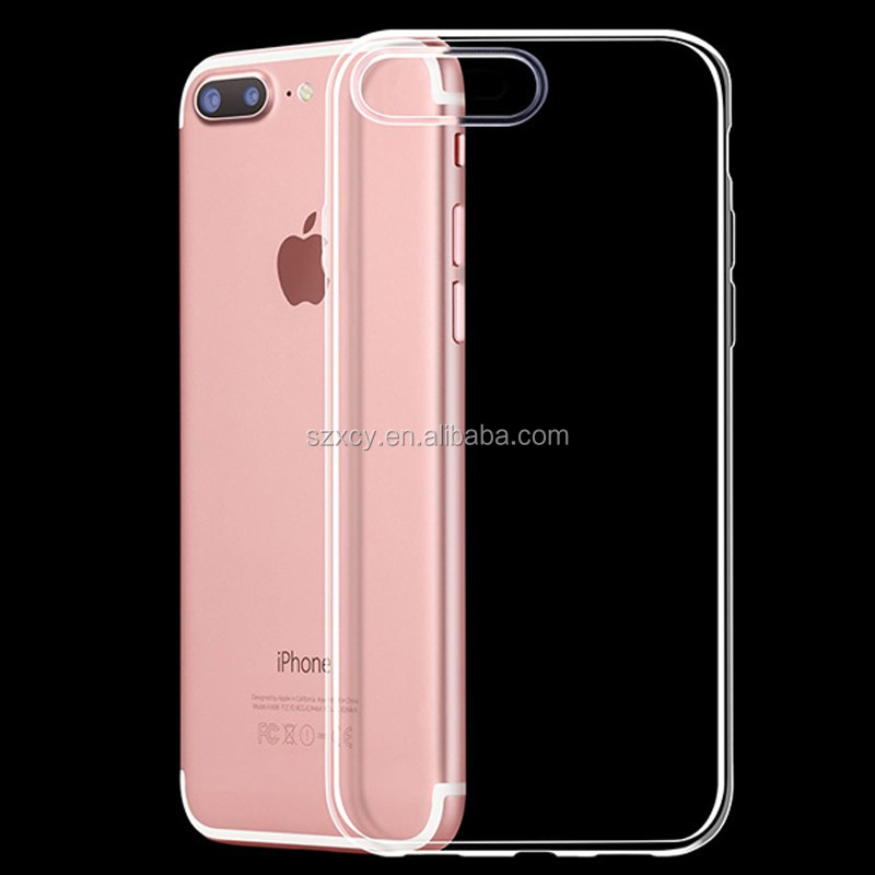 cell phone accessory ultra slim crystal clear transparent sillicone gel tpu mobile phone case for iphone 7 7 plus