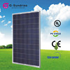 Superior solar panel with black frame
