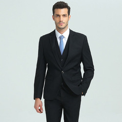In stock item office business formal 3 piece suit