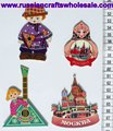 Fridge Magnets in the Form of Russian Dolls with Ethnic Painting Ornament, Promotion Business Gift Wholesale