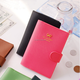 Colorful custom metal logo travel fake leather passport cover