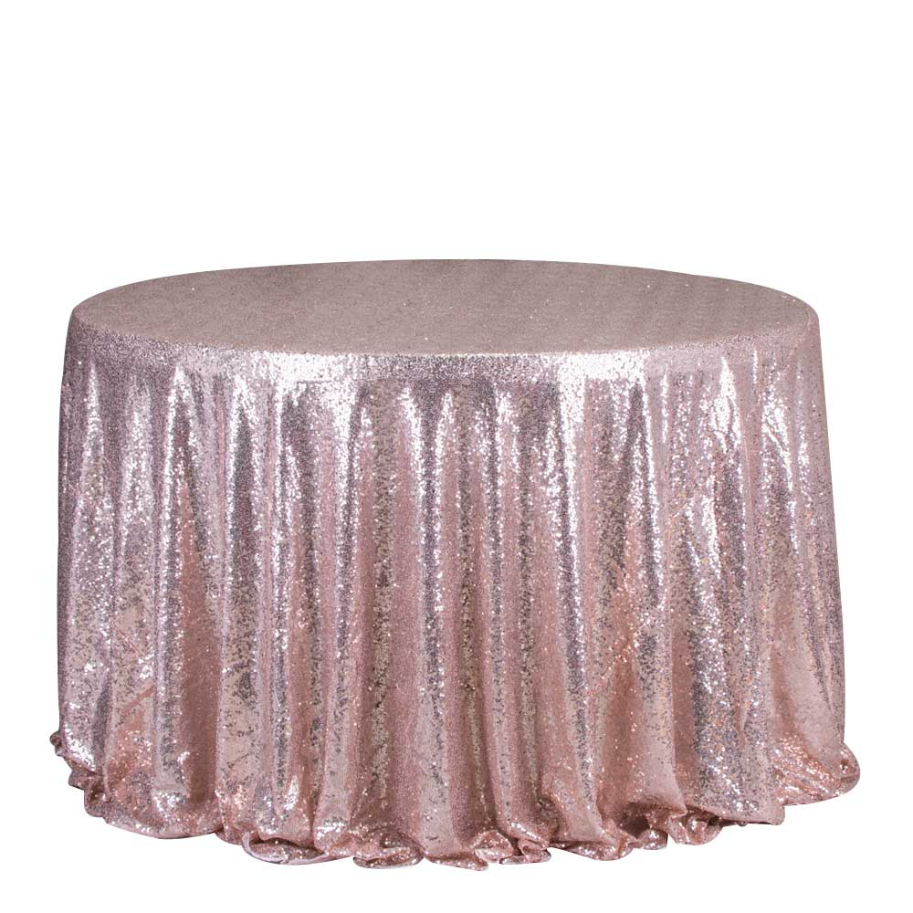 Wholesale luxury wedding party sequin rose gold table cloth