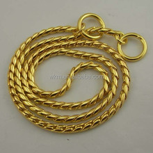 Customized High Quality Brass P shape Dog Snake Chains