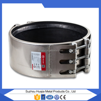 PVC Pipe Leakseal 304 Stainless Steel Straub Coupling huajia Repair Clamp China Manufacture