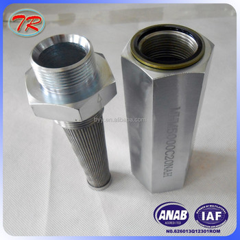 Stainless steel Miniature conical oil filter HM5000C20NAH used for hydraulic pipeline