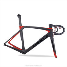 Miracle Full carbon Hidden Cable Aero Road Bike Carbon Frame +Fork+Seat post+Handlebar Framesets