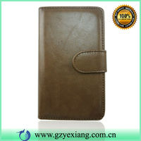 Wallet Holder Leather Case For Samsung Xcover 2 S7710 Glossy PU Skin