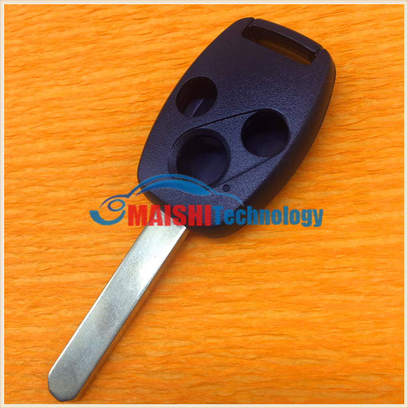 newest car key cover for honda accord fit civic city 3 button remote key shell with uncut keys blade best quality