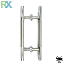Commercial back to back glass door pull handle stainless
