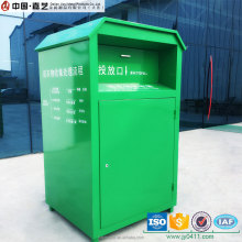 Factory customised metal donate clothes drop bin