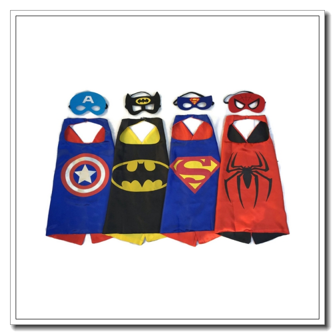Superhero Capes and Masks 4 set Children Party Dress up Costumes