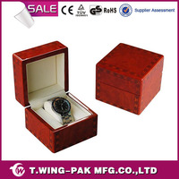 China made, single wooden watch box, customized, cheap and quality watch gift box