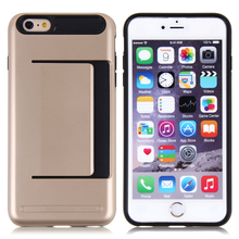 soft tpu cell phone case for iphone 6 plus case leather with card slots