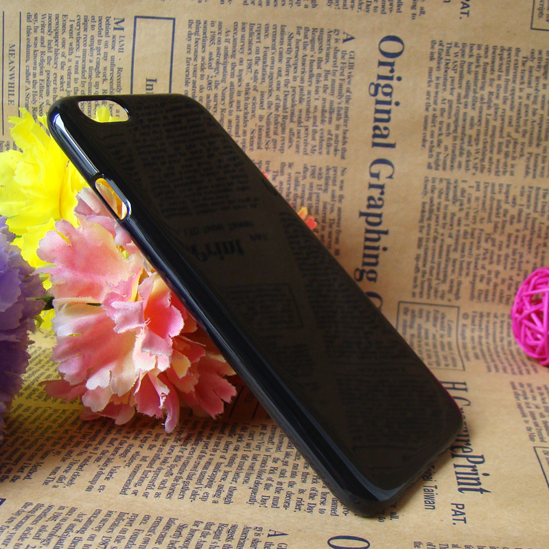 2014 new arrival black cellphone case for iphone 6