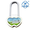 Copper & Iron Double Heart Padlock with & Without Key