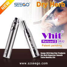 Best electronic cigarette seego portable mini herbal vaporizer Vhit Reload 2 + 1100 mah battery 2014 electronic cigarette