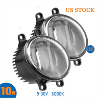 Auto headlight 9~30V 10W LE D Projector Fog light with DRL for Toyota