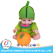 Low moq lovely baby watermelon fruit doll