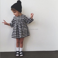 F10271A Boutique frock design baby girls dress hot selling style 2016