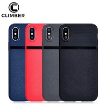 Wholesale Alibaba Cell Phone Case For iPhone 8 Soft TPU Litchi Grain Leather Phone Case For iPhone X 6 7 Plus TPU Back Cover
