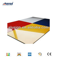 Alusign popular acm manufacturer decorative materials melamine decorative wall covering panel