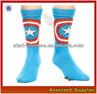 Captain America Shield Symbol With Wings Marvel Comics Licensed Crew Socks