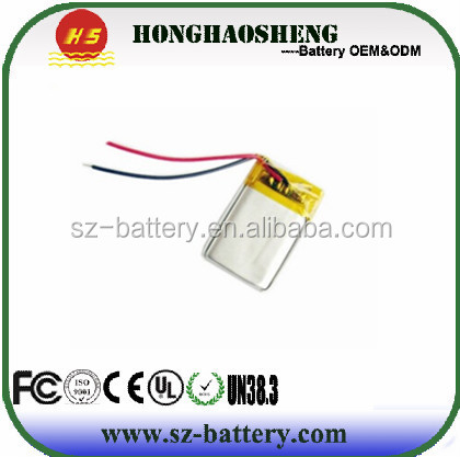 502527 3.7v 250mah lithium polymer rechargeable battery for water meters
