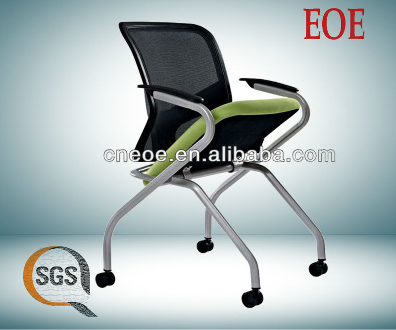 foldable metal chairs folding chair mesh training chair