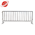 Concert roadside pedestrian steel barriers