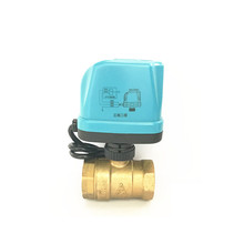 2017 new DN15 DN20 DN25 DN32 AC220V brass electric actuated ball valve G3/4""