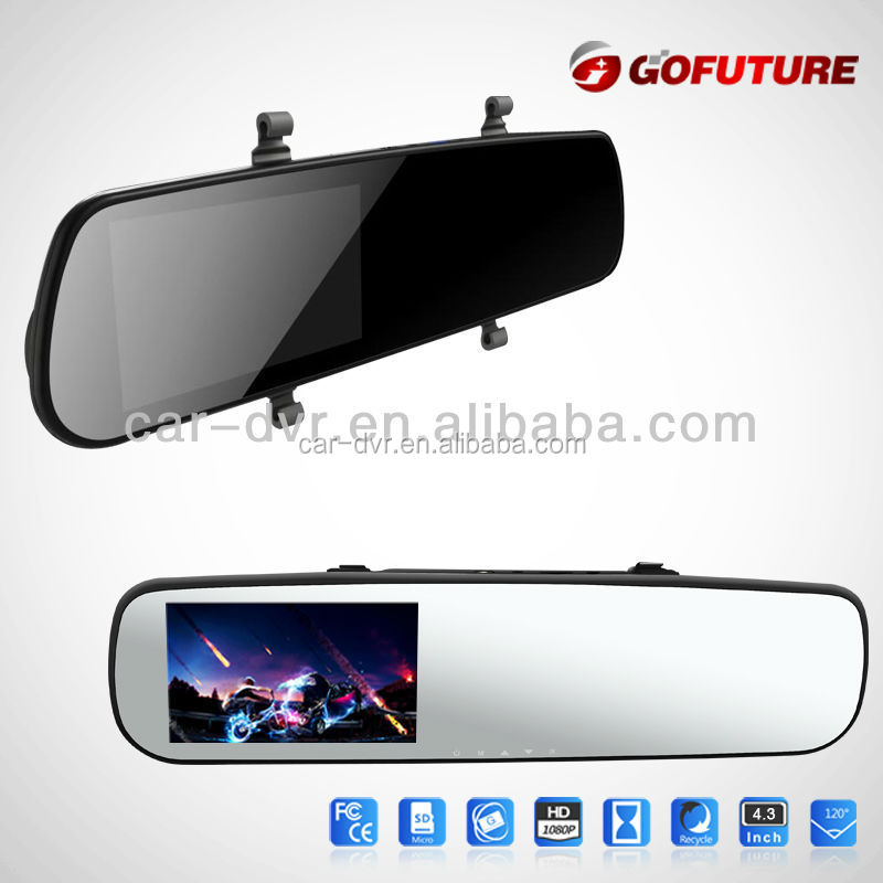 4.3 inch FHD 1080P mirror car dvr for used accident cars for sale in japan